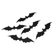 12pcs halloween 3d black bat wall sticker halloween party home