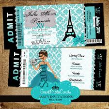 eiffel tower invitations teal eiffel tower invitations for quinceanera or sweet 16t