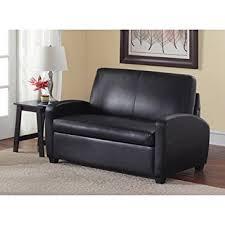 black leather sleeper sofa amazon com sofa sleeper black this faux leather sleeper sofa has