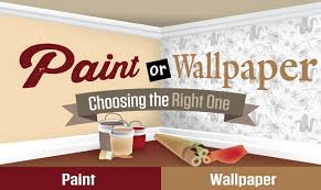 Paint Or Wallpaper | paint or wallpaper choosing the right one infographic visualistan
