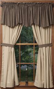 Primitive Kitchen Curtains Prairie House Valances And Homestead Tiers Decorate My House