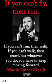 Martin Luther King Meme - if you can t fly then run if you can t run then walk if you can t