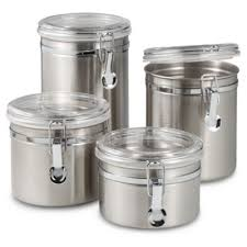 kitchen canisters stainless steel buy stainless kitchen canister from bed bath beyond