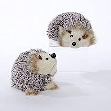 hedgehog ornament set of 2 home kitchen