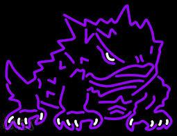 tcu horned frogs logo ncaa neon sign riff ram