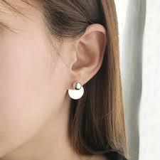 two way earrings modern disco two way earring be arum