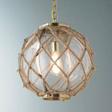 nautical kitchen lighting fixtures jute nautical pendant glass bowls hand wrapped with thick