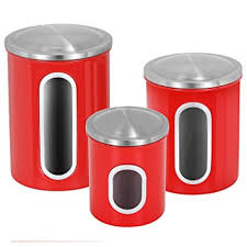 amazon com kitchen canisters set atecking fingerprint proof