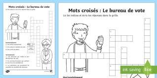 image bureau de vote mots croisés le bureau de vote les élections