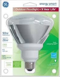 Exterior Led Flood Light Bulbs by Ge Lighting 21739 26 Watt 90 Watt Equivalent Energy Smart Outdoor