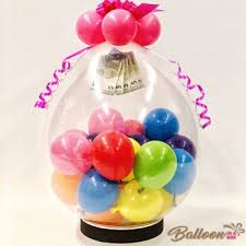 balloons with gifts inside stuffed balloon gift
