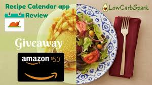 code promo amazon cuisine recipe calendar meal planning app review great giveaway