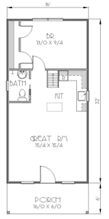 Tiny House Layout by Bungalow Style House Plan 1 Beds 1 Baths 812 Sq Ft Plan 423 38