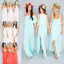 green dresses for wedding guest 2018 cheap bohemian bridesmaid dresses wedding guest wear v neck