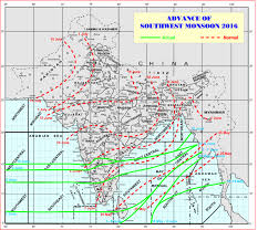 Map Of Monsoon Asia by India U0027s Monsoon Is Delayed For Third Year In A Row U2014 Climate