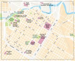 houston map convention center houston city center map eps illustrator vector city maps usa