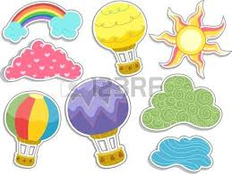 four banners of rainbow designs stock photo picture and royalty