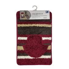 Red Bathroom Rugs Sets by Maroon Bath Rug Set Creative Rugs Decoration