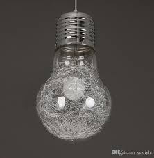 Light Bulb Pendant Fixture by Large Light Bulb Pendant Lights Modern Simple Creative Style