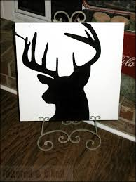tattered and inked reindeer silhouette painting
