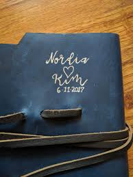 personalized wedding guest book personalized wedding guest book leather embossed with foil