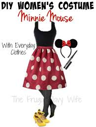 diy women u0027s minnie mouse halloween costume with everyday clothes