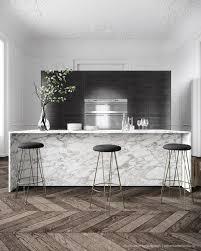 parisian kitchen design chevron wood floors white kitchen stainless kitchens