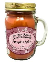 amazon com pumpkin spice scented 13 ounce mason jar candle by our