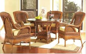 dining table with wicker chairs round dining table with rattan