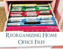 reorganizing home office files