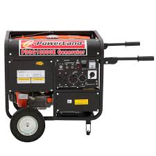 powerland 10 000 watt 1 tri fuel powered electric start portable