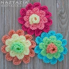 blooming flowers crochet blooming flower