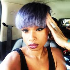 Jennifer Hudson Short Hairstyles Jennifer Hudson U0027s Pixie Haircut In Layers Of Lavender Grey And Lilac