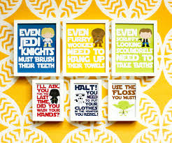star wars bathroom prints 3 color options star wars kids