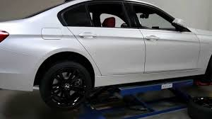 white wrapped cars bmw f30 wrapped in satin pearl white by impressive wrap youtube