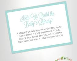 bring a book instead of a card baby shower invitation