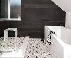 Bathroom Black And White Bathroom by Black White Floor Tiles Houzz World Inside