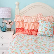 coral and teal bedding crib bedding in light pink linen coral and