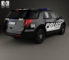 Ford Explorer 2016 - ford explorer police interceptor utility with hq interior 2016 3d