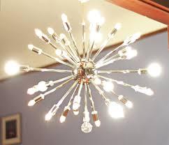 Vintage Sputnik Light Fixture Living Room Modern Chandelier Lighting Antique
