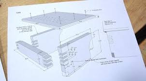 building the table and template holder