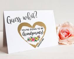 scratch grandparents to be card pregnancy announcement