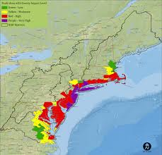 Northeast Map Usa by North Atlantic Coast Comprehensive Study
