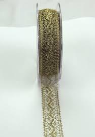 gold lace ribbon metallic lace ribbon wholesale 22mm green tara gold silver