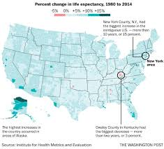 New York County Map U S Life Expectancy Varies By More Than 20 Years From County To