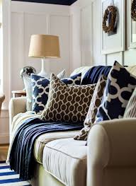 Brown Themed Living Room by Fall Decor In Navy And Blue