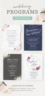customizable wedding programs day of stationery you can t go without these customizable wedding