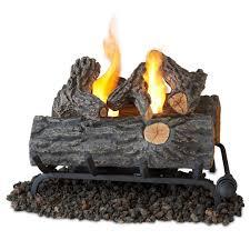 delightful fireplace ceramic log sets modern for picturesque set