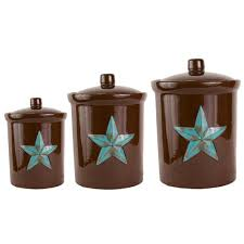 western kitchen canister sets check out the deal on turquoise 3pc canister set at cabin