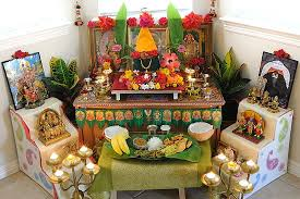 Ugadi Decorations At Home Small Mandir For Home Search Home Decor Pinterest